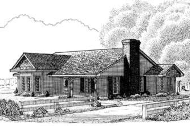 Country Exterior - Front Elevation Plan #410-277