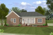 Southern Exterior - Rear Elevation Plan #56-555