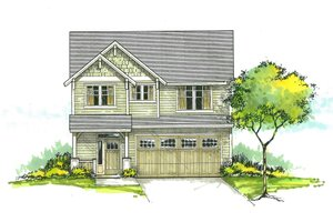 Craftsman Exterior - Front Elevation Plan #53-459
