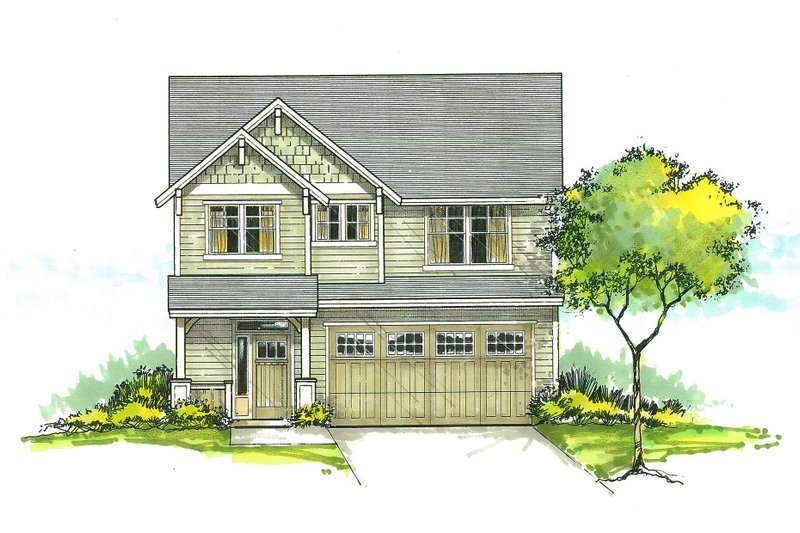 Craftsman Style House Plan - 3 Beds 2.5 Baths 1753 Sq/Ft Plan #53-459 Exterior - Front Elevation