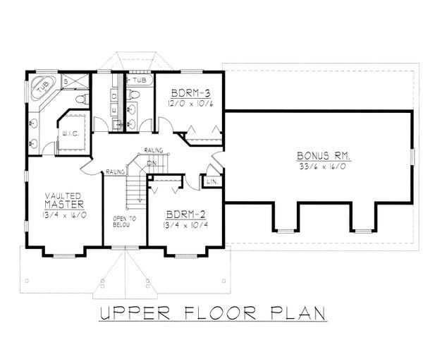 Home Plan - Farmhouse Floor Plan - Upper Floor Plan #112-165