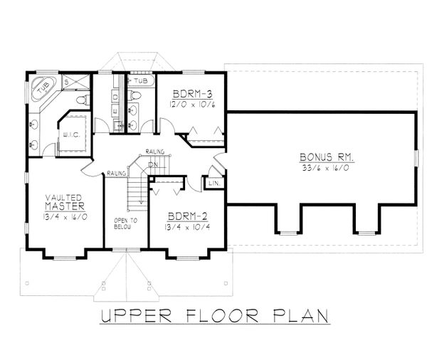 House Plan Design - Farmhouse Floor Plan - Upper Floor Plan #112-165