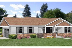 Farmhouse Exterior - Front Elevation Plan #116-278