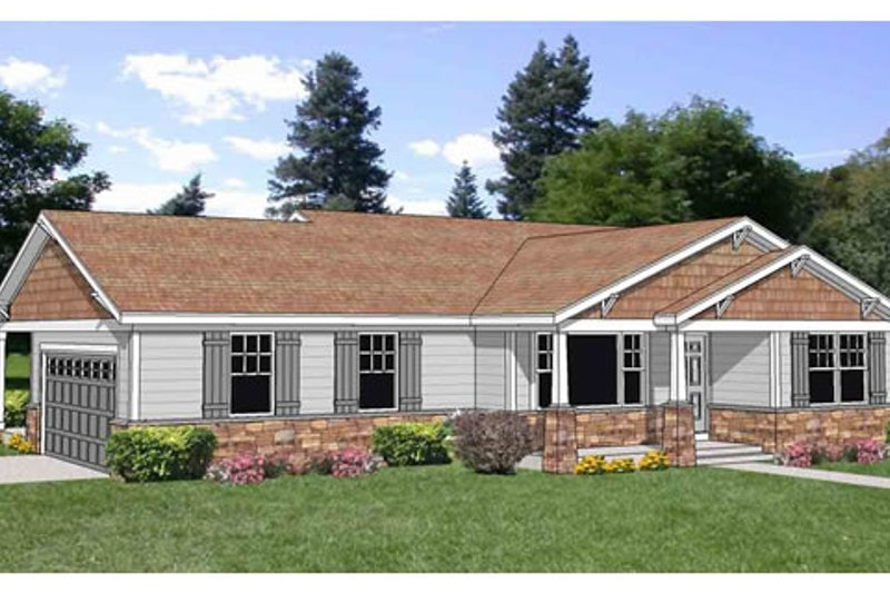 Farmhouse Style House Plan - 2 Beds 2 Baths 1460 Sq/Ft Plan #116-278 Exterior - Front Elevation