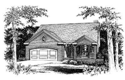 Traditional Exterior - Front Elevation Plan #20-436