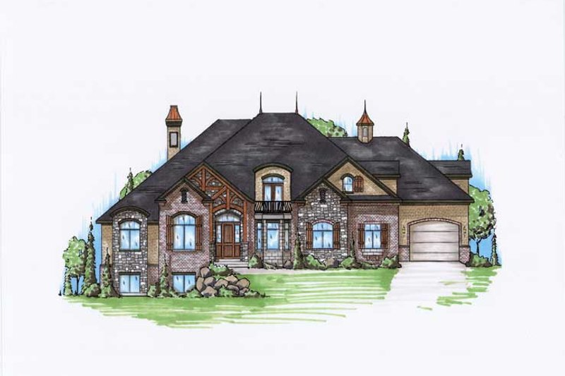 Home Plan - European Exterior - Front Elevation Plan #5-445