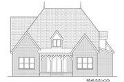 European Style House Plan - 4 Beds 3.5 Baths 2899 Sq/Ft Plan #413-876 Exterior - Rear Elevation