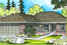 Ranch Exterior - Front Elevation Plan #124-373