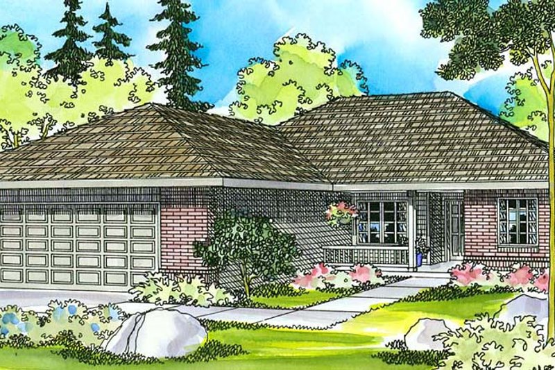 Home Plan - Ranch Exterior - Front Elevation Plan #124-373