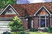 Traditional Style House Plan - 3 Beds 2 Baths 1620 Sq/Ft Plan #320-473 Exterior - Front Elevation