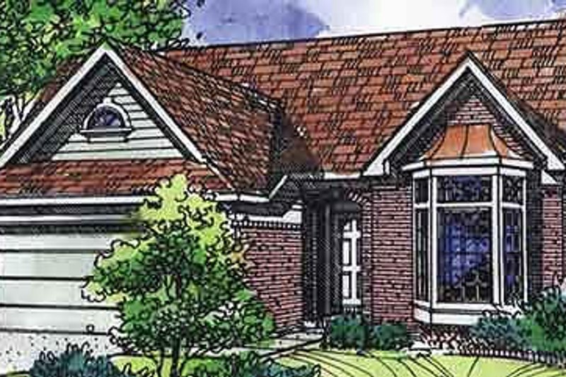 Traditional Exterior - Front Elevation Plan #320-473 - Houseplans.com