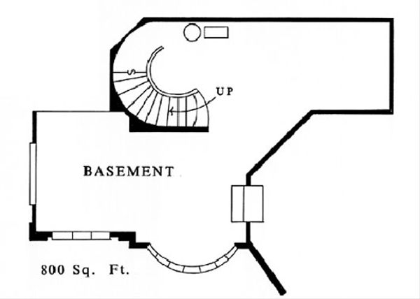Contemporary Floor Plan - Lower Floor Plan #509-50