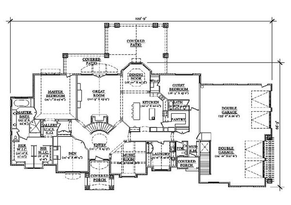 House Plan Design - European Floor Plan - Main Floor Plan #5-347