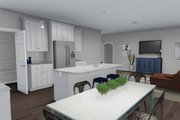 Ranch Style House Plan - 3 Beds 2 Baths 1493 Sq/Ft Plan #1060-39 Interior - Kitchen