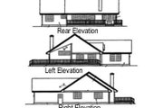 Ranch Style House Plan - 3 Beds 2.5 Baths 1613 Sq/Ft Plan #60-574 Exterior - Rear Elevation