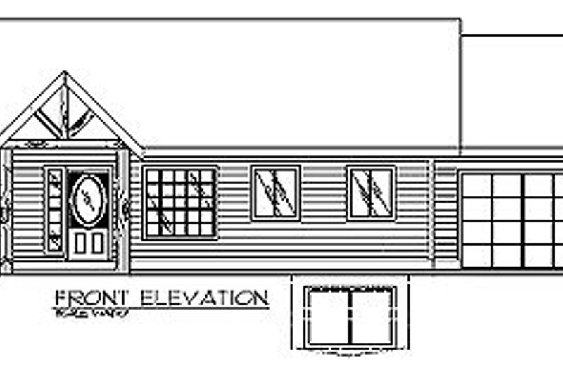 Traditional Exterior - Other Elevation Plan #117-234 - Houseplans.com