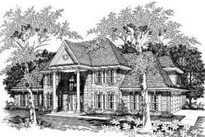 Colonial Exterior - Front Elevation Plan #329-128