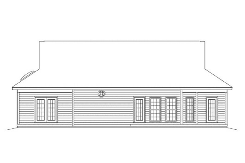 Ranch Exterior - Rear Elevation Plan #57-238 - Houseplans.com