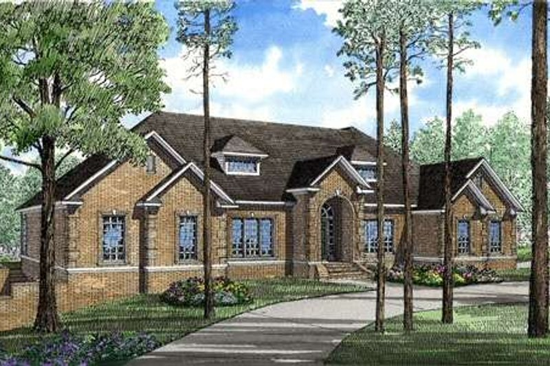 House Plan Design - Traditional Exterior - Front Elevation Plan #17-1014