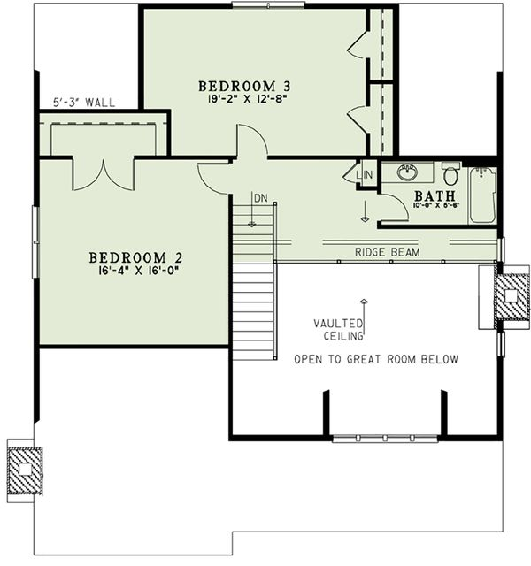 Cottage Floor Plan - Upper Floor Plan Plan #17-2544
