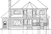 Traditional Style House Plan - 4 Beds 2.5 Baths 2861 Sq/Ft Plan #25-2163 Exterior - Rear Elevation