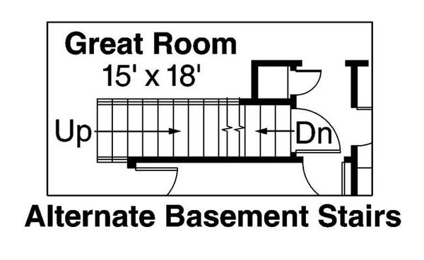 Craftsman Floor Plan - Lower Floor Plan Plan #124-534