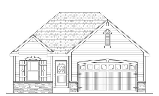 European Exterior - Front Elevation Plan #20-2081