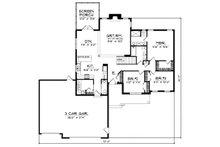 Traditional Floor Plan - Main Floor Plan Plan #70-188