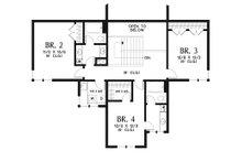 Modern Floor Plan - Upper Floor Plan Plan #48-939