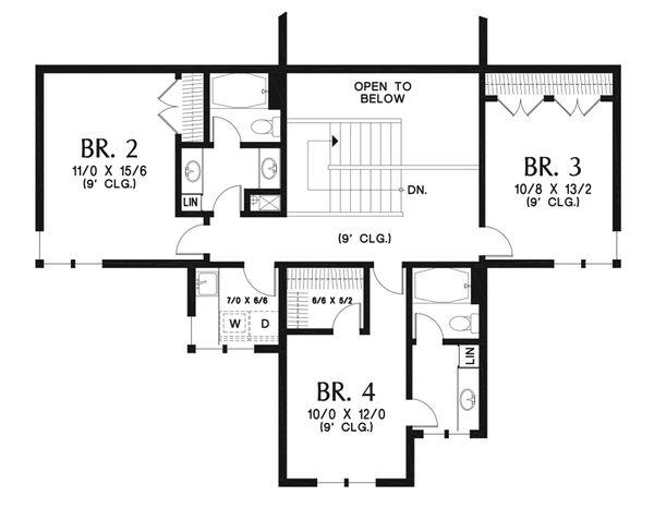 Modern Floor Plan - Upper Floor Plan #48-939