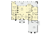 Contemporary Style House Plan - 3 Beds 2.5 Baths 2250 Sq/Ft Plan #930-502 Floor Plan - Main Floor