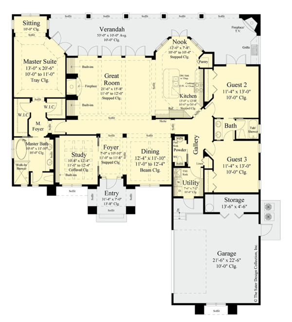 Architectural House Design - Contemporary Floor Plan - Main Floor Plan #930-502