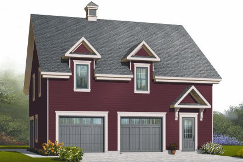 Home Plan - Country Exterior - Front Elevation Plan #23-2271