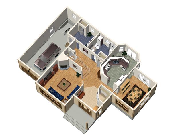 Country Floor Plan - Main Floor Plan Plan #25-4709