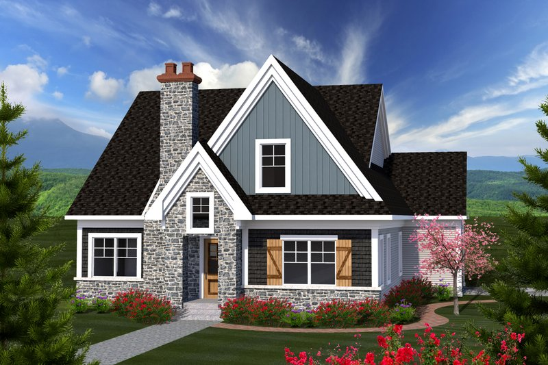 Craftsman Exterior - Front Elevation Plan #70-1228