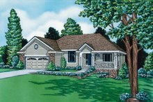 House Plan Design - Traditional Exterior - Front Elevation Plan #20-489