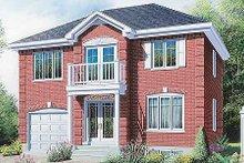 House Plan Design - European Exterior - Front Elevation Plan #23-506