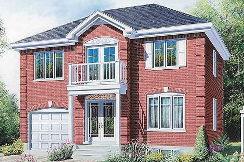 European Exterior - Front Elevation Plan #23-506