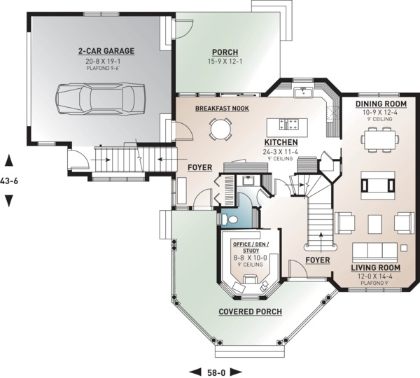 Victorian Floor Plan - Main Floor Plan Plan #23-749