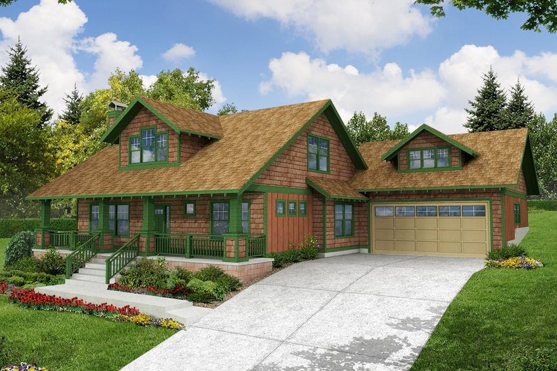 Home Plan Design - Bungalow Exterior - Front Elevation Plan #124-485