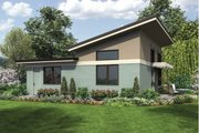 Modern Style House Plan - 1 Beds 1 Baths 899 Sq/Ft Plan #48-474 Exterior - Rear Elevation