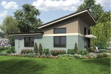 Dream House Plan - Modern Exterior - Rear Elevation Plan #48-474