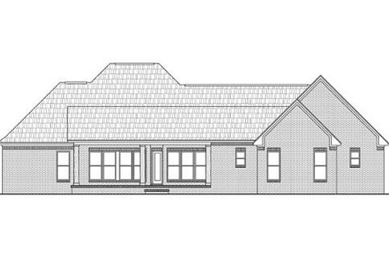 European Exterior - Rear Elevation Plan #21-266 - Houseplans.com