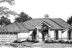 Dream House Plan - Mediterranean Exterior - Front Elevation Plan #14-116