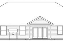 Home Plan - Ranch Exterior - Rear Elevation Plan #124-872