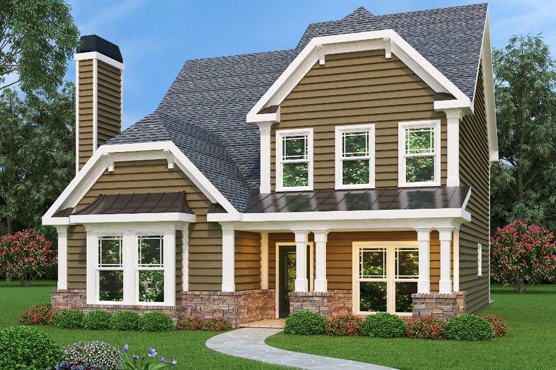 Craftsman Exterior - Front Elevation Plan #419-205