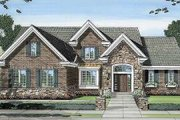 Traditional Style House Plan - 4 Beds 2.5 Baths 2824 Sq/Ft Plan #46-401 Exterior - Front Elevation