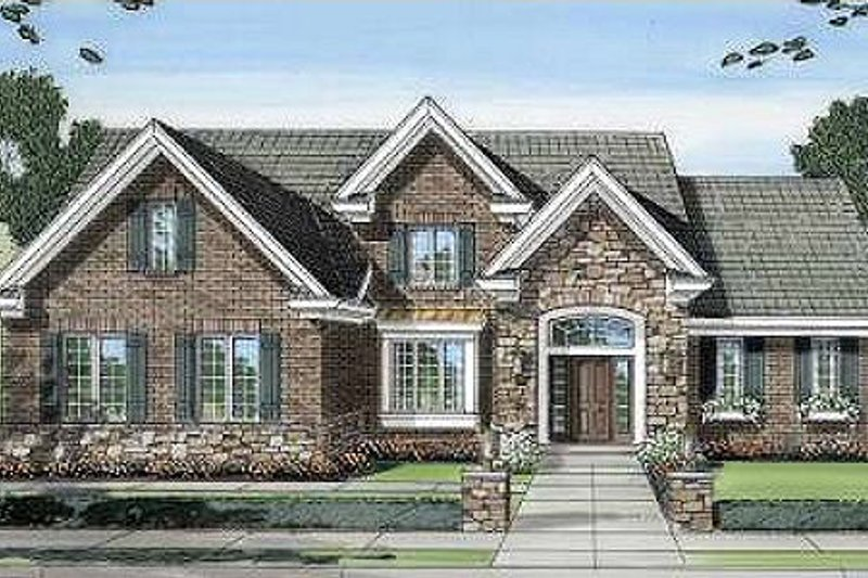 Traditional Exterior - Front Elevation Plan #46-401