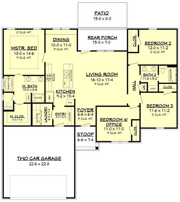 Country Floor Plan - Main Floor Plan Plan #430-178