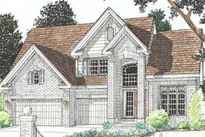 Traditional Exterior - Front Elevation Plan #20-172